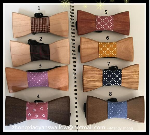 silk neckties free shipping Fashion Accessories Mens Wood Bowtie Ties for men Best Christmas gift