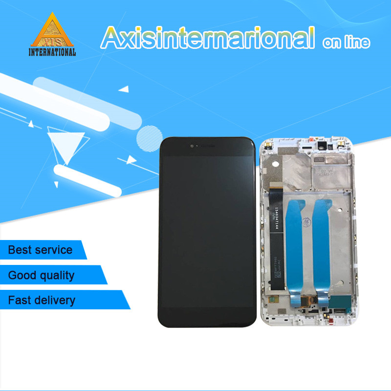 Original Axisinternational For Xiaomi Mi 5X Mi5X M5X LCD Screen Display Touch Digitizer With Frame White