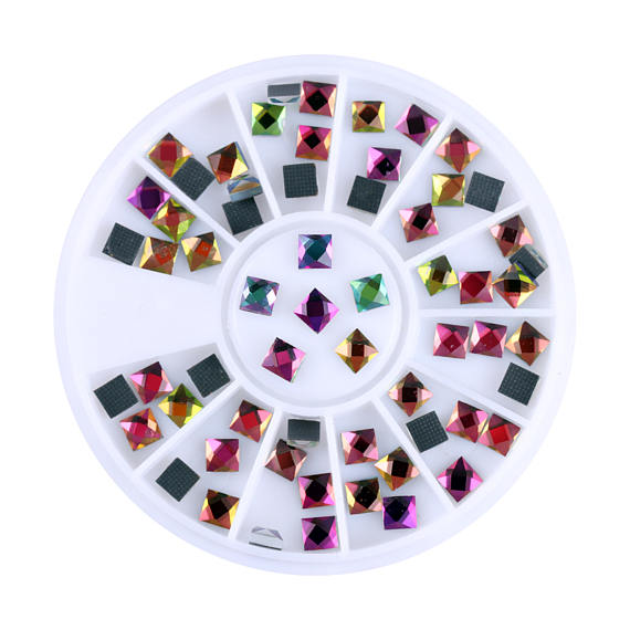 1Box NEW Shine Multicolor Fire Stones Tips Sticker 3d Nail Rhinestones Glitter DIY Hot Fix Flatback Glass Decor for UV gel in Rhinestones Decorations from Beauty Health
