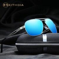 KITHDIA Polarized Sunglasses Men Vintage Alloy Male Sun Glasses Women Driving Glasses Oculos With Case 2646