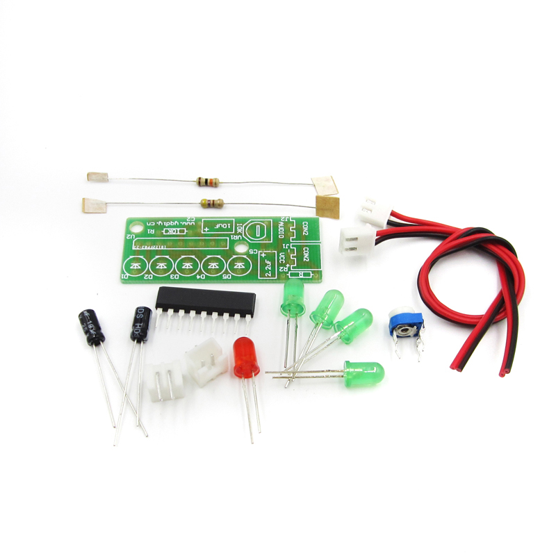 Electronic Kit Parts 5mm RED Green LED Level Indicating 3.5-12V KA2284 DIY KIT Audio Level Indicator Suite Trousse DIY