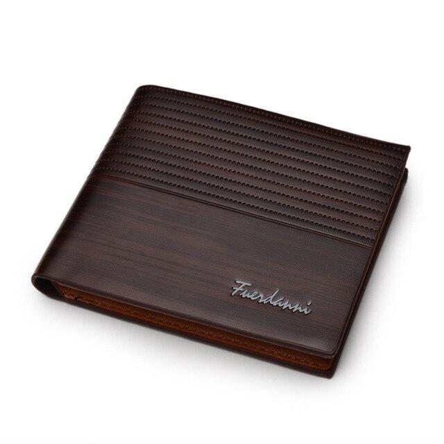 Top 2018 Vintage Men Leather Brand Luxury Wallet Short Slim Male Purses Money Clip Credit Card Dollar Price Portomonee Carteria 1