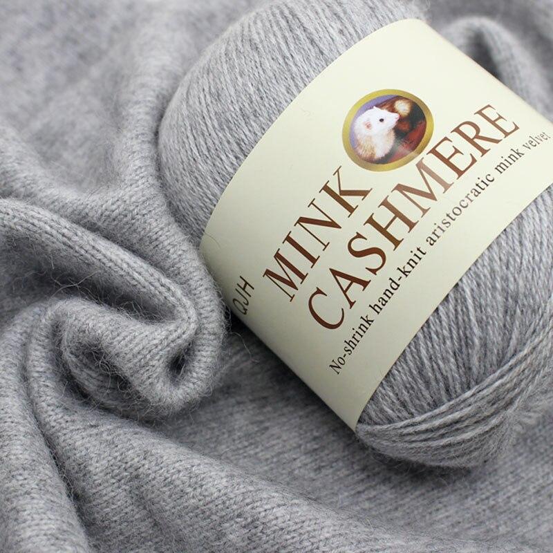 Best Quality Mink Wool Yarn Mongolian Soft Cashmere Yarns Hand-knitted Crochet Yarn for Knitting Ball Scarf Yarn Baby Knit sweat