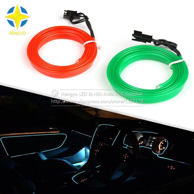 3m 3V flexibilní neonové světlo záře EL drátu lano páska kabel pásek LED neonová světla boty oblečení auto vodotěsný led pásek nový.