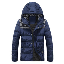 Mens Winter Jackets Hooded Patterns Printing Applique Designer New arrival Duck Down Coat Mensfashion Clothing Blue