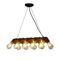 Vintage Loft Pendant Chandeliers Retro Metal Waterpipe Lamps Art Decoration Lights E27 Industrial Lighting Fixture