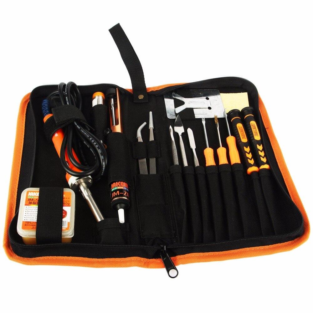 JAKEMY 23 in 1 Electric Soldering Iron Repair Tool Set Screwdriver Tweezer Solder Assist Hand Tools For Repairing Mobile Phone