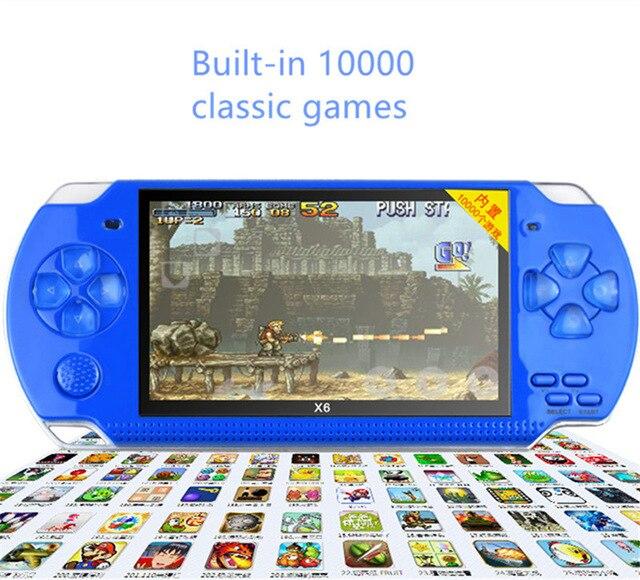Dropshipping X6 4,3 handheld Spielkonsole Unterstützung 16 Bit 32 Bit Lcd Video Spiel Konsole Mp3 Mp5 Ebook Spiel Player Mp5 Video Spiel Videospiele