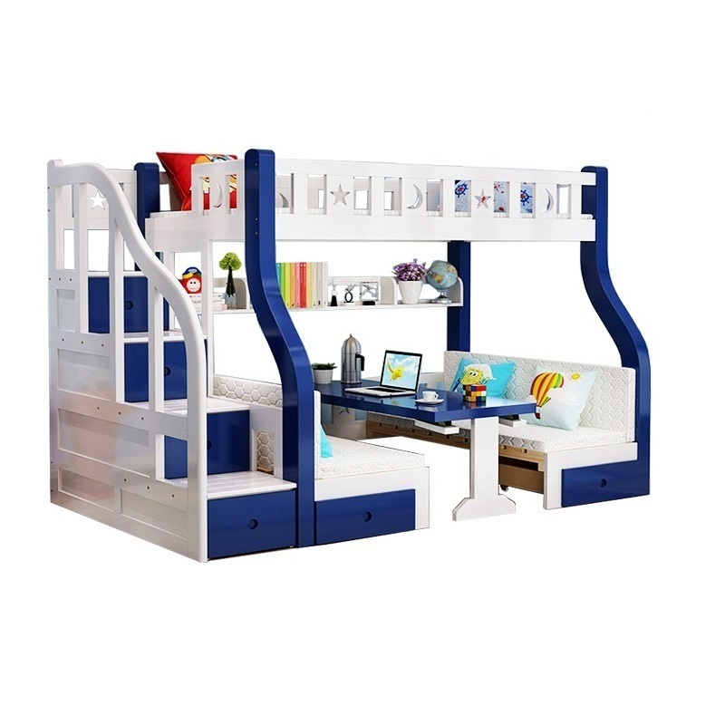 цена на Mobili Modern Tempat Tidur Tingkat Frame Matrimonio Kids Cama Moderna Mueble De Dormitorio bedroom Furniture Double Bunk Bed