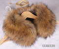 Autumn and winter faux rabbit fur fox fur raccoon fur faux collar black and white fur collar cape scarf 55cm 20 colors