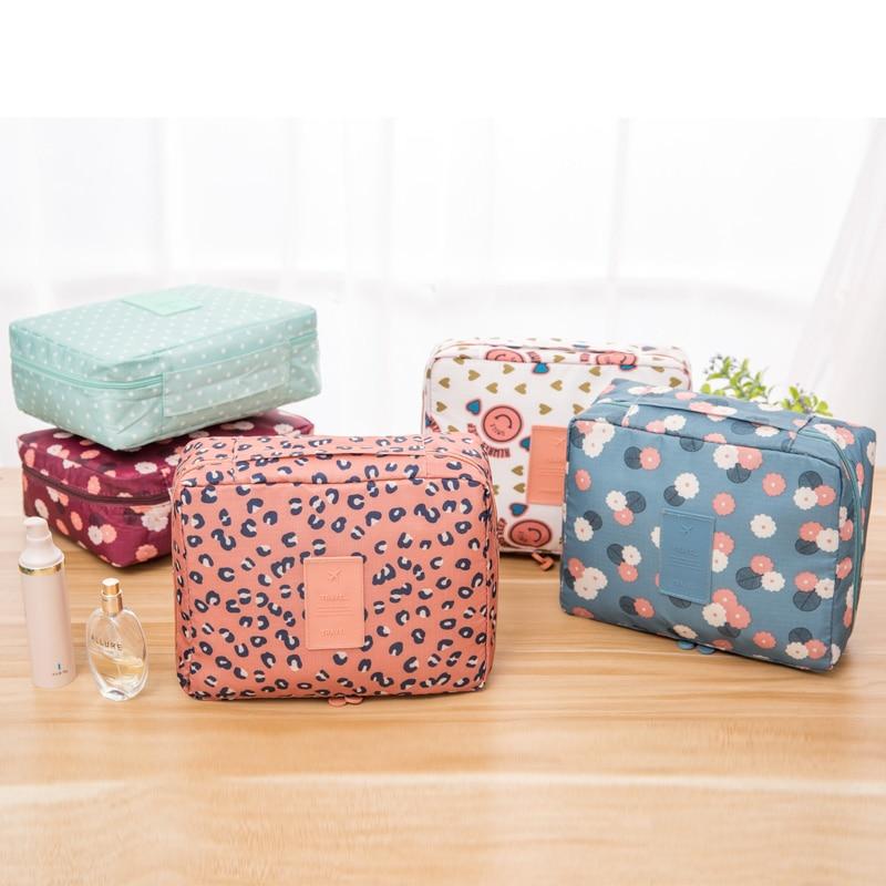 Nylon Double Zipper Women Cosmetic Bags Men Makeup Bag Beauty Case Make Up Organizer Toiletry Bags Storage Travel Wash Pouch women travel cosmetic polka dots makeup double layer case pouch organizer bag