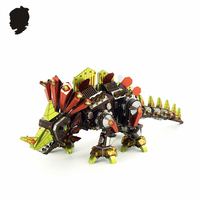 PIECECOOL DINOSAUR ROCK Color Model 3D Puzzle Construction And Assembly Toys Electroplating Etching Mech Creative Gifts
