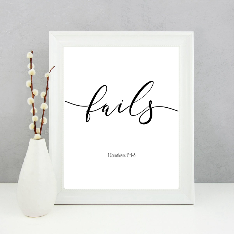 Verses Canvas Art Picture Home Wall Decor