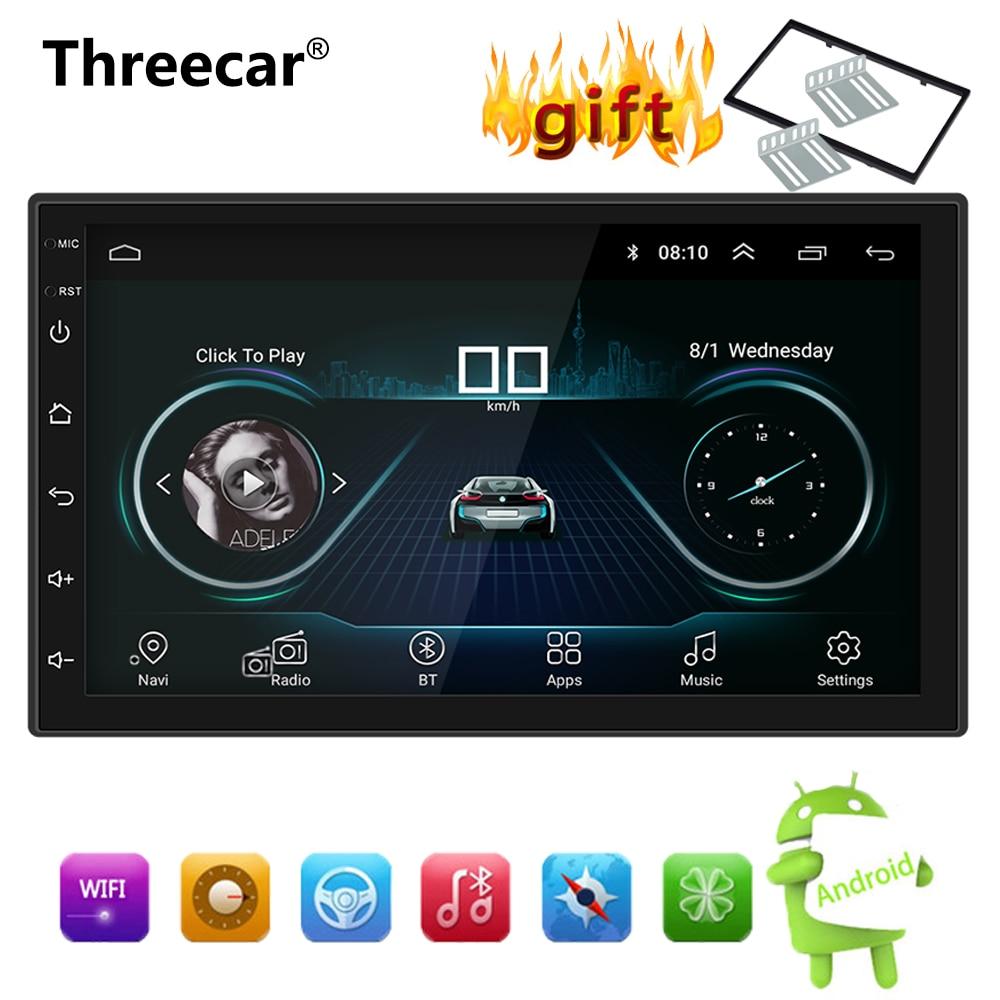 "Android 8.1 Car Radio Stereo GPS Navigation Bluetooth wifi Universal 7"" 2din Car Radio Stereo Quad Core Multimedia Player Audio"