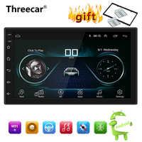Android 8.1 Car Radio Stereo Navegação GPS Bluetooth wi fi Universal 7 ''2din Car Radio Stereo Quad Core Multimedia Player áudio