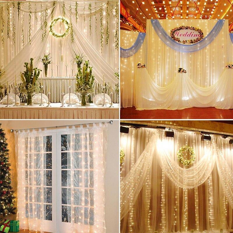 Usb Led Curtain Fairy String Light Fairy Light 300 Led Christmas Light For Wedding Home Garden Party Decor