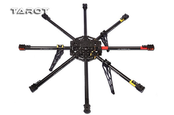 Tarot ALL 3K Pure Carbon metal OCTA rotor copter main frame Kit Iron man 1000 TL100B01 tator rc multi rotor helicopter tarot t15 pure 3k carbon folding type octa copter main frame kit fpv tl15t00