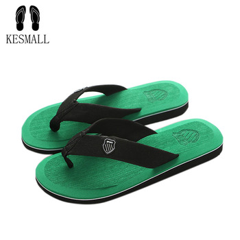 KESMALL New Arrival Summer Men Flip Flops High Quality Beach Sandals Anti-slip Zapatos Hombre Casual Shoes Wholesale A10
