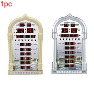 Image 4 - 音楽再生カレンダー壁テーブル Led 自動イスラム教徒祈りギフトアザン時計デジタルモスク家の装飾時間思い出さイスラム