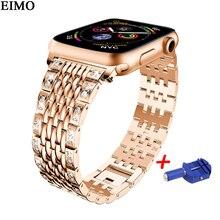 Banda Strap para apple watch 4 44mm 40mm Link pulseira de aço Inoxidável para Iwatch série 4 Wristbelt de Metal pulseira