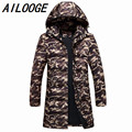 2016 Brand Winter Jacket Men Super Long Down Jacket Winter Coat High Quality Duck Down Warm Knee-length Hooded Parka Outwear