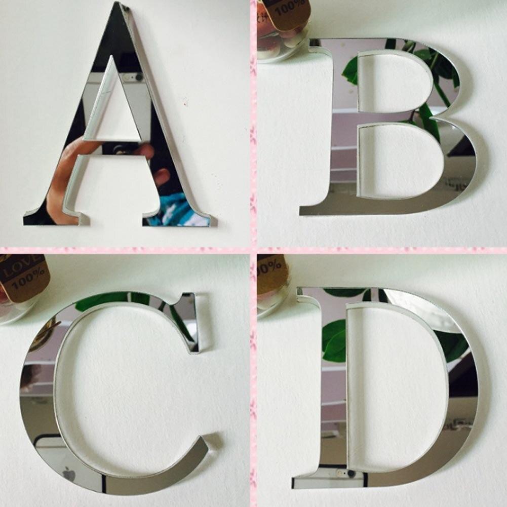 2017 акрил ЕВА свадьбы Стикеры любовные письма украшения дома английский 3d зеркало настенное Стикеры s алфавит