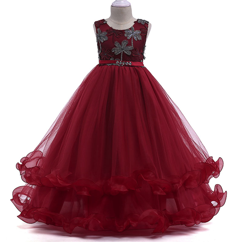 Children's Clothing Kids Prom Dress Princess Clothes Vestido First Communion Dresses Flower Girl Dresses Party Clothes LP-76