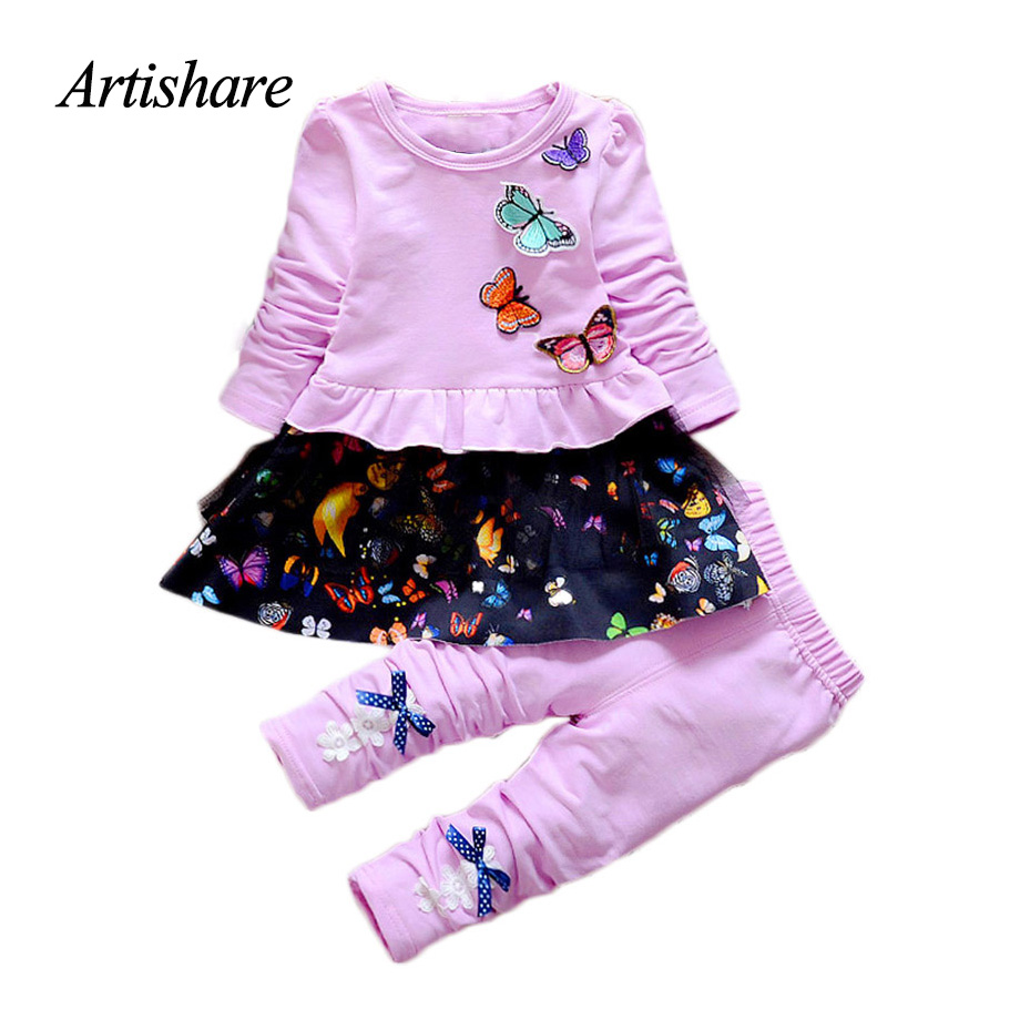 Artishare 2 Pcs Baby Girls Clothes Suits Children Clothing