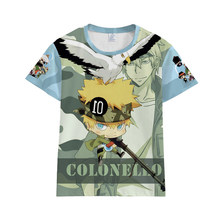 Katekyo hitman renascer sawada tsunayoshi hibari kyoya camiseta cosplay traje de verão das mulheres dos homens manga curta t streetwear