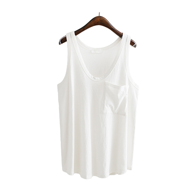 TWOTWINSTYLE V Neck Vest Top For Women Basic Pocket Patchwork Big Size Female T-shirt Vests Summer 2018 Fashion Casual Clothing