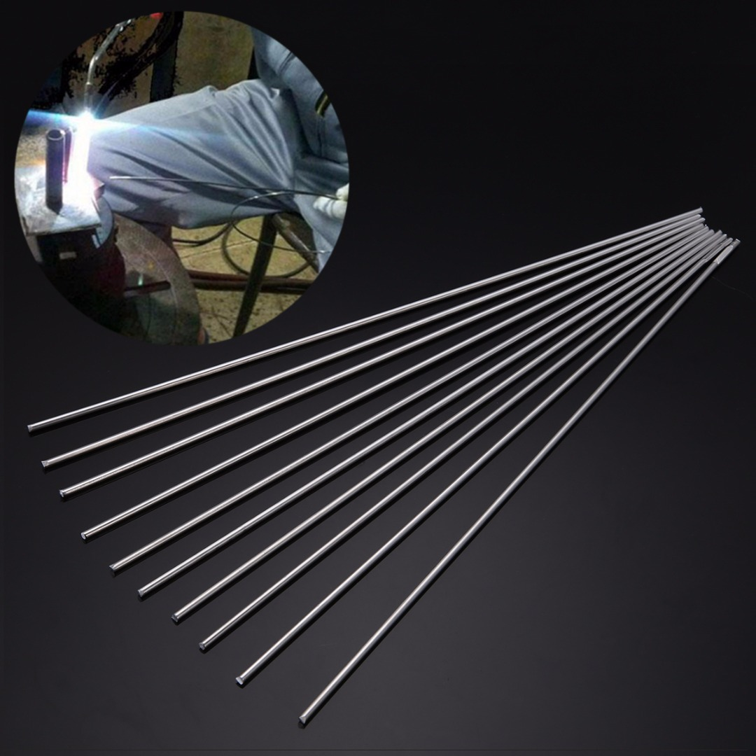 10pcs Silver Welding Rod Low Temperature Welding Sticks Metal Aluminum Magnesium 2mmx450mm