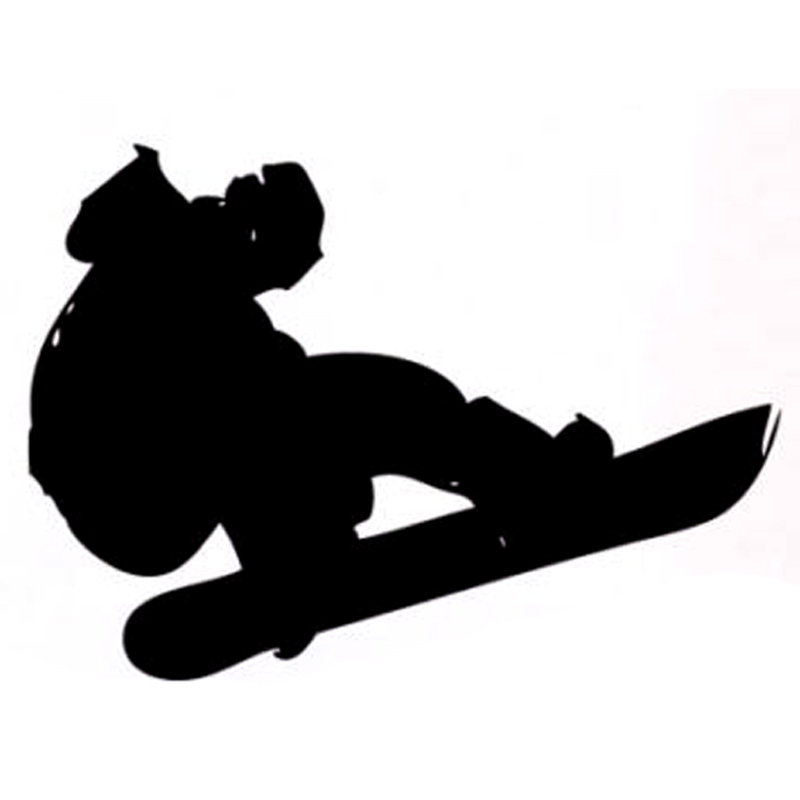14.1CM*10CM Interesting Snowboard Extreme Sports Decal Vinyl Car Sticker Silhouette S9-1024