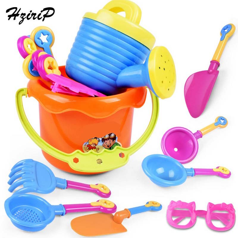 HziriP New 9PCS Kids Sand Playing Tool Beach Toys Set Summer Plastic Outdoor Beach Bucket Shovel Sunglasses Tools Gift For Kids