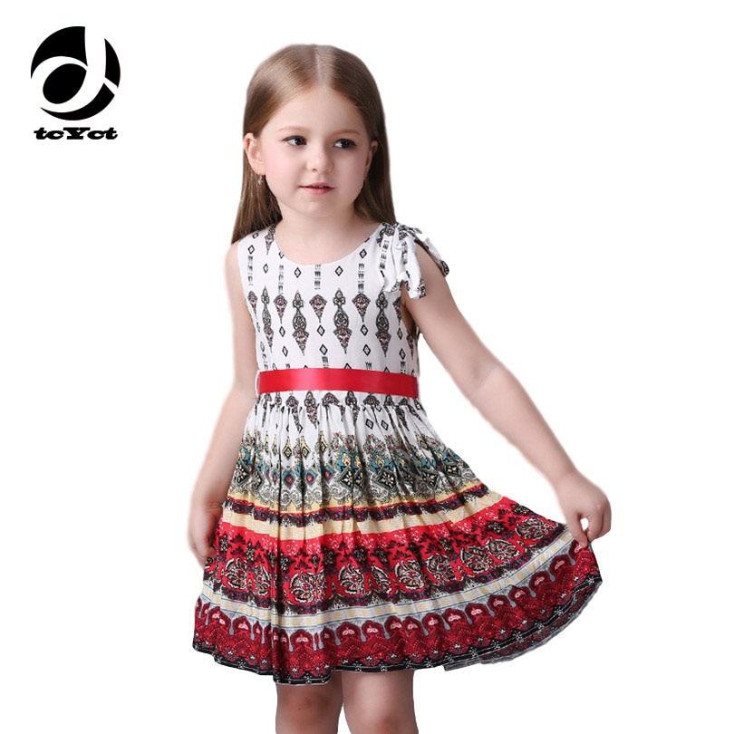 Milan Creations Printing Girls Dresses Summer 2016 Girl Party Dress Princess Costume Child Girls Sundress For 3-8 Years