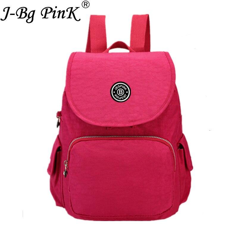 J-BG PinK School Backpack for Teenage Girl Mochila Feminina Women Backpacks Waterproof Nylon Casual Laptop Bagpack Female Sac A