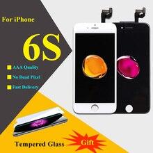 3D touch для iPhone 6 S ЖК-дисплей Дисплей Сенсорный экран планшета Ассамблеи телефон запасные части ЖК-дисплей для iPhone 6 S Экран черный, белый цвет