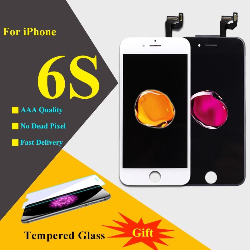 imágenes para Pantalla Táctil 3D Para el iphone 6 S LCD Pantalla Táctil Digitalizador asamblea LCD de Piezas de Repuesto Para el iphone 6 S Pantalla Del Teléfono Negro blanco