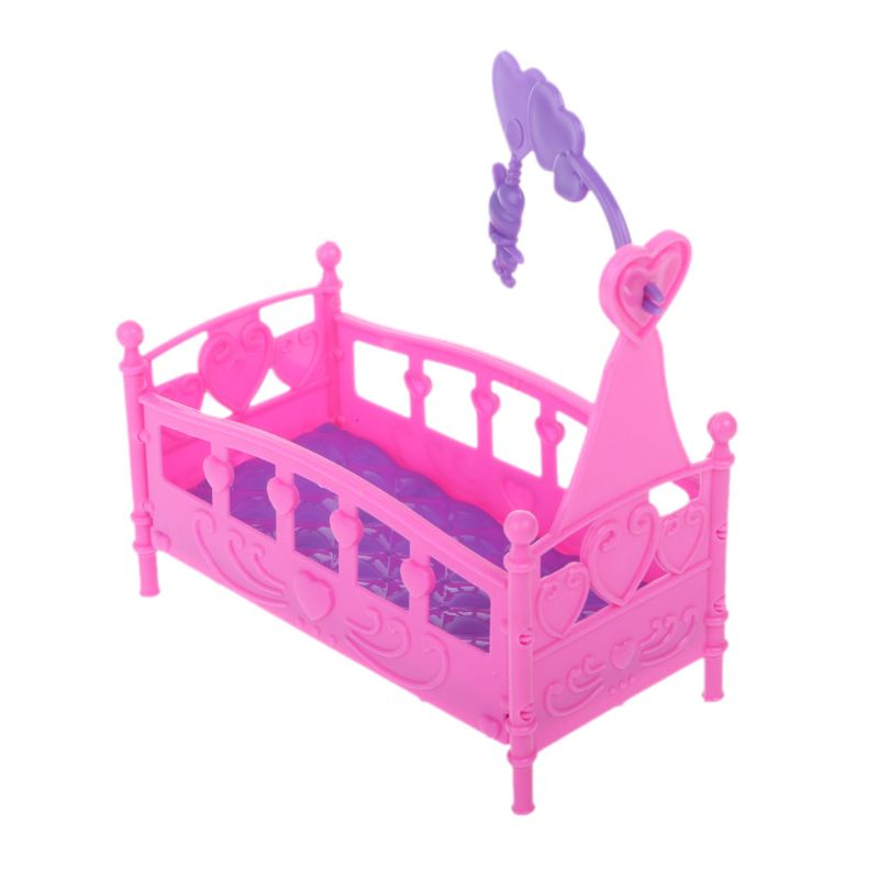 Doll <font><b>House</b></font> <font><b>Toy</b></font> Rocking Cradle Bed Furniture <font><b>For</b></font> Kelly Doll Accessories <font><b>Girls</b></font> <font><b>Toy</b></font> image