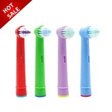 4 шт. сменные детские зубные щетки для Oral-B Электрическая зубная щетка Fit Advance power/Pro Health/Triumph/3D Excel