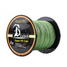 Professional Strong 1000m/1093yds 4braid Solid Color Braided Fishing Line - Green