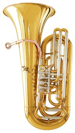Bb Brass Junior Tuba Height 827.5mm Bell size 367.5mm with Case and mouthpiece musical instruments professional
