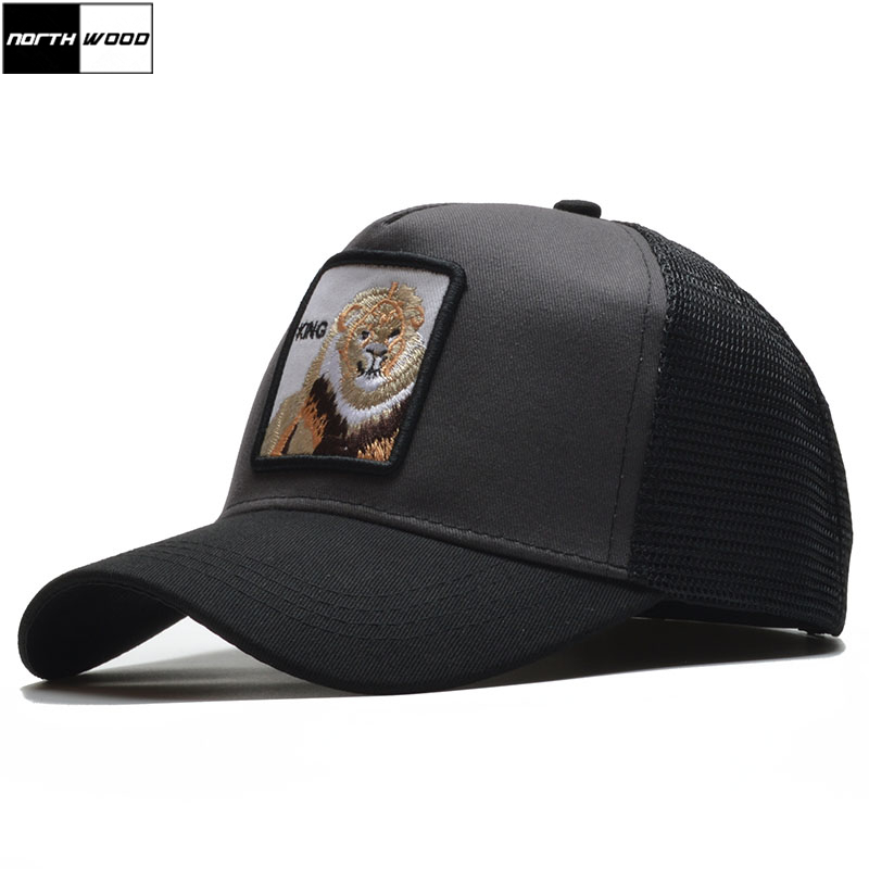 NORTHWOOD  2019 Summer Baseball Cap For Men Women Snapback Hat Animal  Embroidery Bone Trucker fa812ff43ec1