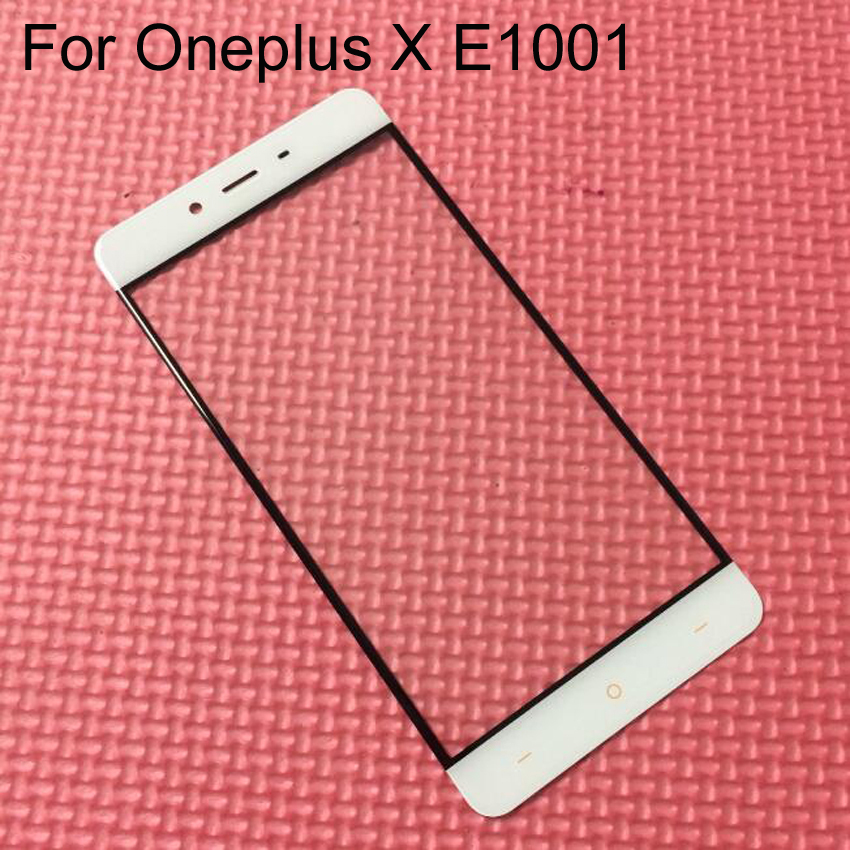 Topphonescreen Store Black White High Quality Front Panel For Oneplus X Mobile Phone Outer Screen Glass Lens Replacement Repair Part