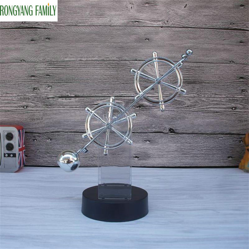2018 NEW Magnetic Cradle Balance Ball Christmas Miniatures Gift Steel Physics Science Pendulum Educational Toy Office Figurines