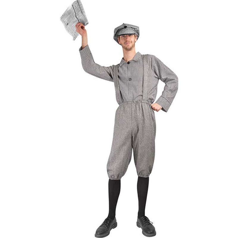 Adult Old Fashion Newsboy Halloween Costume