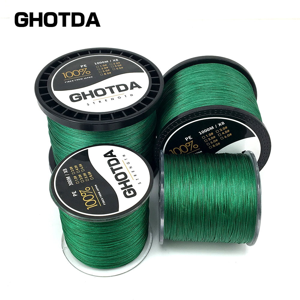 New brand ghotda 100 pe pe braided fishing line for 20 lb braided fishing line