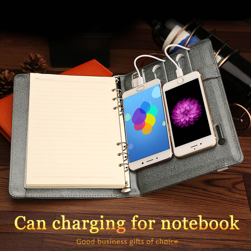 filofax diary battery charging notebook a5 office stationery supplies elastic strap notebook agenda planner notebook filofax mini