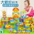Grandes bloques de partículas grandes de plástico juguetes de los niños montaron insertados lucha bloques educativos de la primera infancia