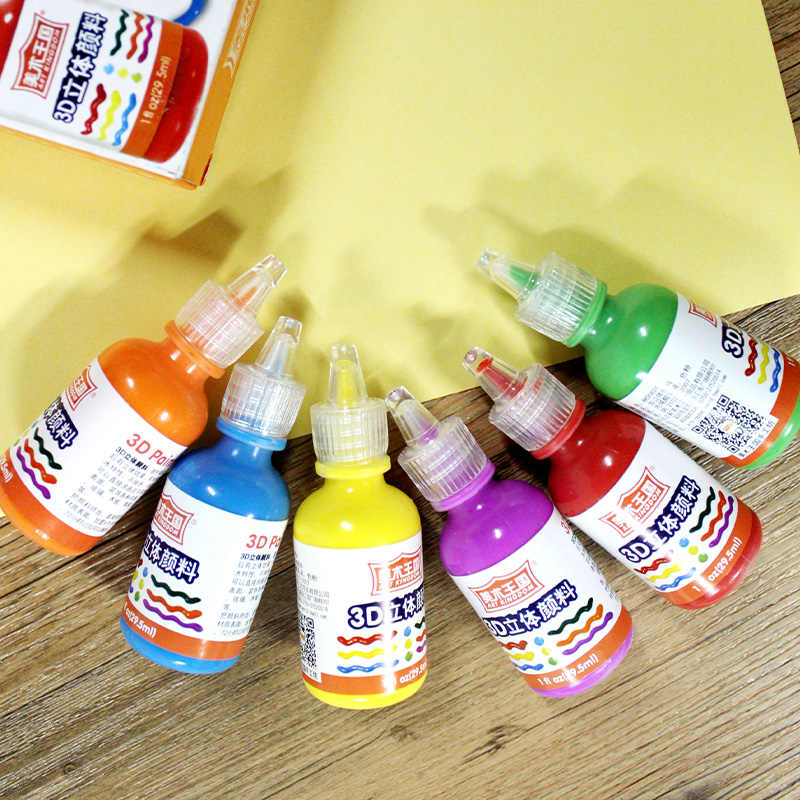6 12colors Acrylic Paint Set For Painting Fabric Textile Clothing Gl Ceramic
