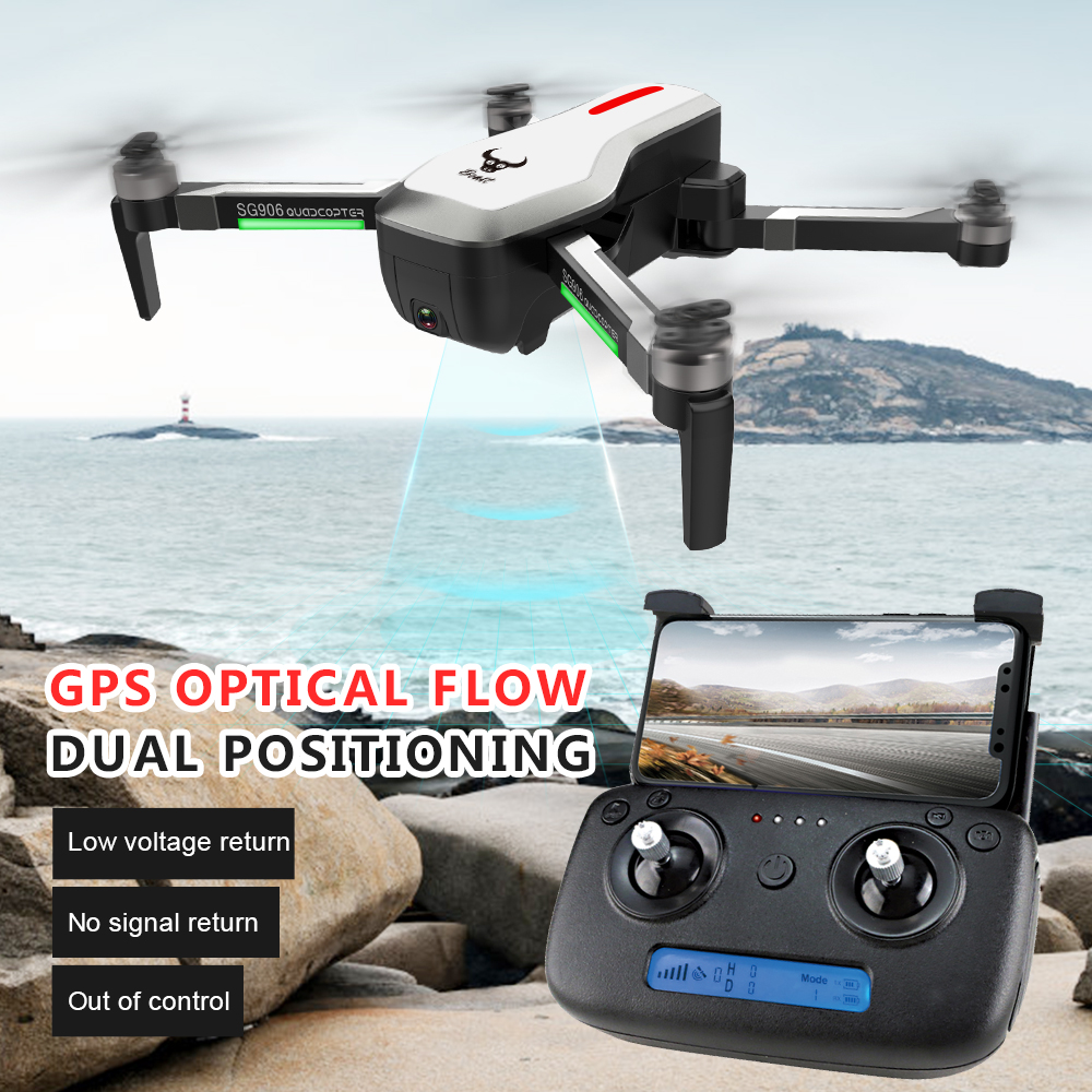 a1064460d53b4 US $145.59 9% OFF|New SG906 drone GPS 5G WIFI FPV 4K Camera drone Brushless  Selfie Foldable RC Drone drones with camera hd rc helicopter-in RC ...